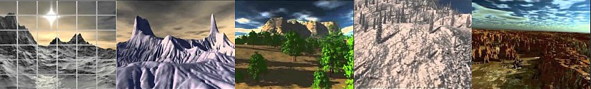 3d terrain animations in                                     Carrara, foliage, skies, planets